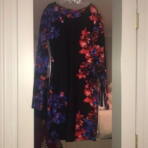 NEVER WORN SMALL BLACK WITH FLORAL PARKER DRESS